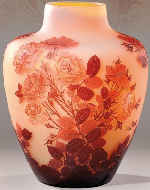 vase signé galle