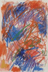 pastel dessin Joan Mitchell