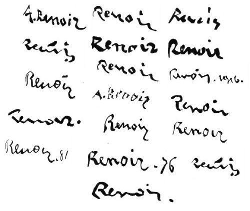 expertise signature renoir