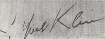 expertise signature yves klein