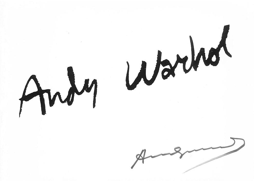expertise signature warhol