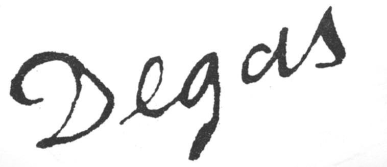 expertise signature degas