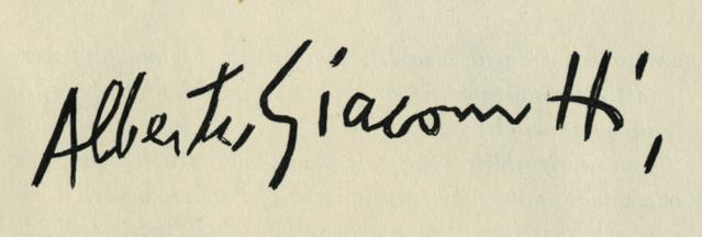 expertise signature alberto giacometti