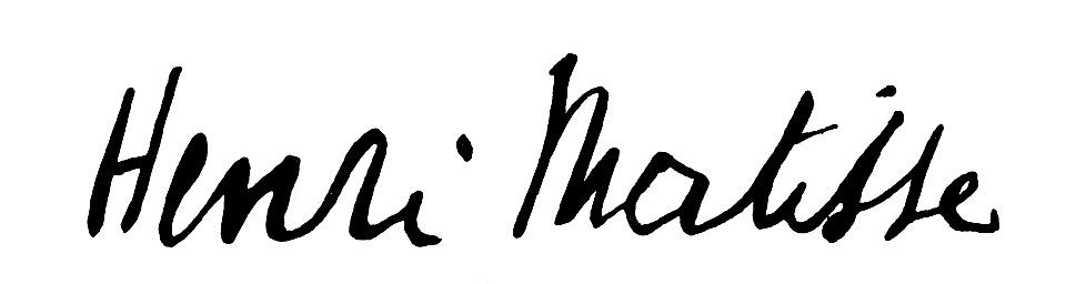 expertise signature Henri Matisse