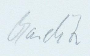 Expertise signature baselitz