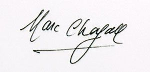 expertise signature chagall