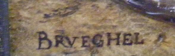 Expertise signature Jan Brueghel