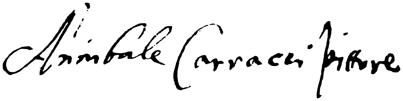 Signature Annibal Carrache