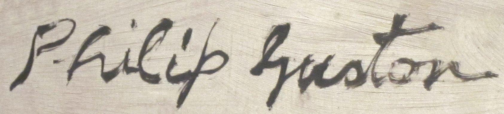 Expertise signature Philip Guston