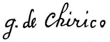 expertise signature chirico