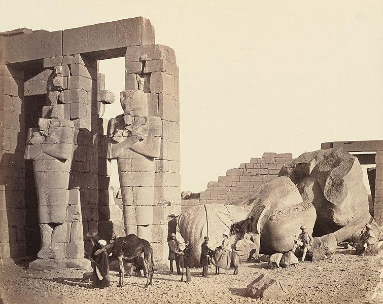 Le Ramesseum de El-Kurneh. Thèbes, Francis Frith