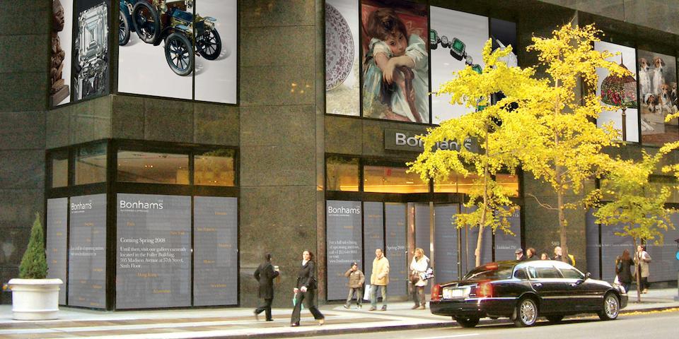 Vue des bureaux Bonham's, New York