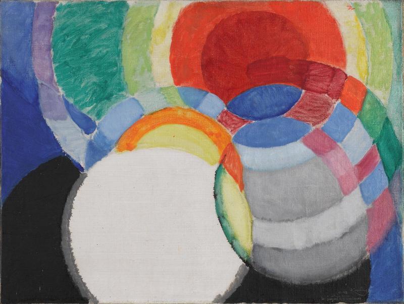 Disques de Newton, étude pour fugue à deux couleurs, Frank Kupka