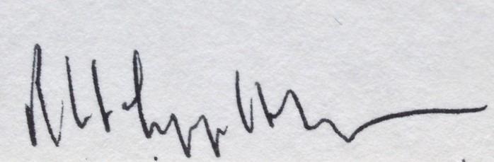 signature Robert Mapplethorpe