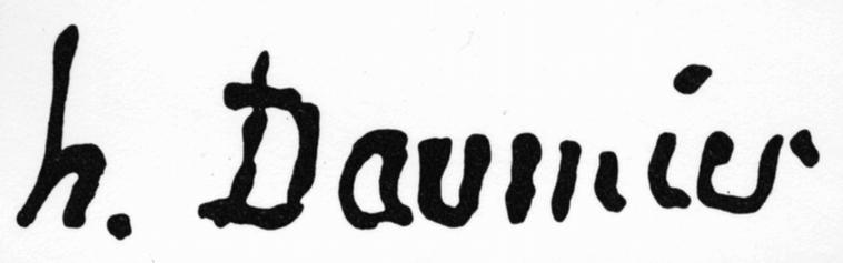 expertise signature Honoré Daumier