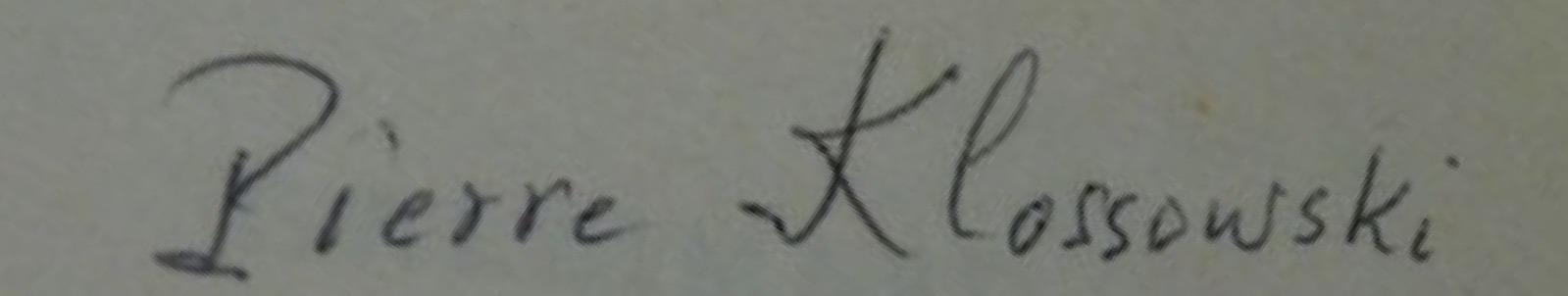 signature expertise Klossowski
