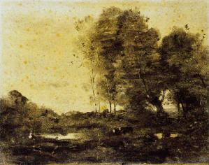 Dessin Jean-Baptiste Camille Corot
