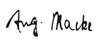 signature Auguste Macke