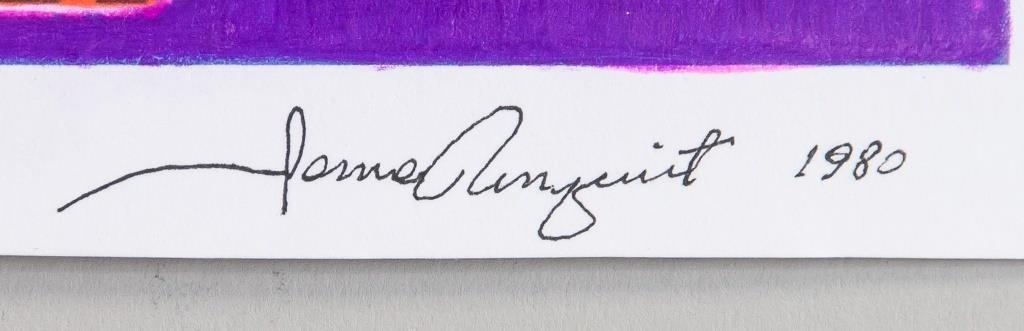 James ROSENQUIST signature