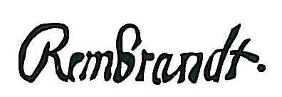 signature Rembrandt