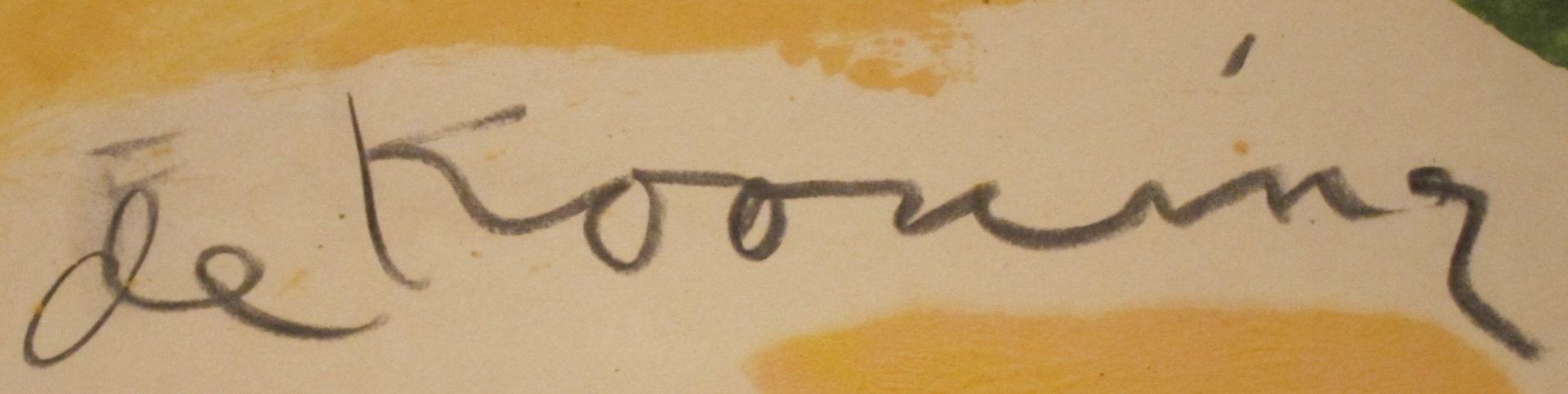 signature Willem DE KOONING