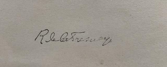 Roger DE LA FRESNAYE signature