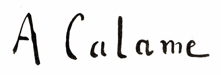 Alexandre CALAME signature