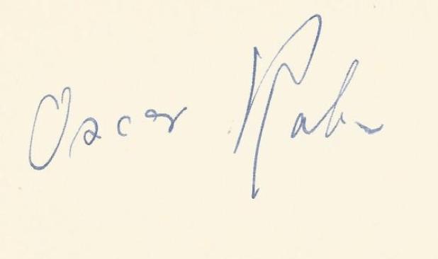 Oskar RABIN signature