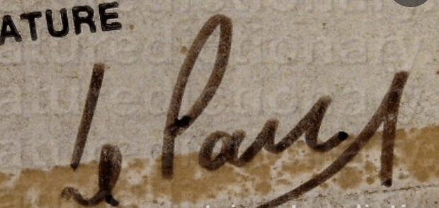 Julio LE PARC signature