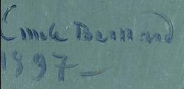 Emile Henri BERNARD signature