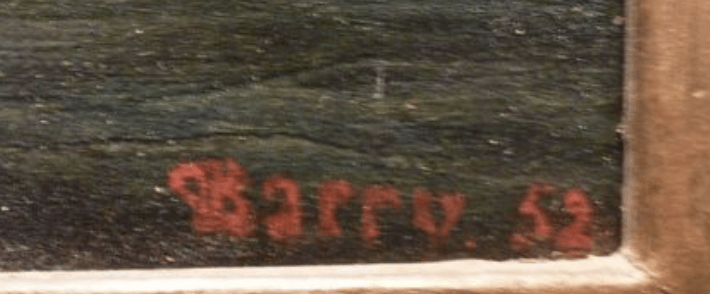 François Pierre BARRY signature