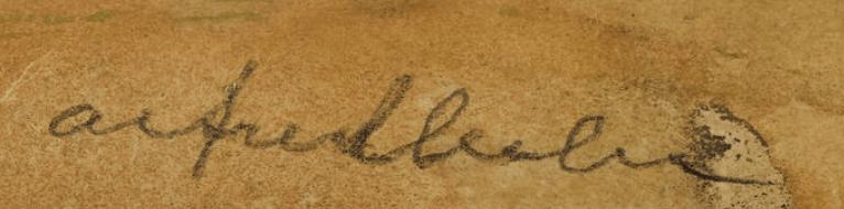 Alfred LESLIE signature