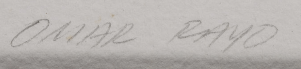 Omar RAYO signature