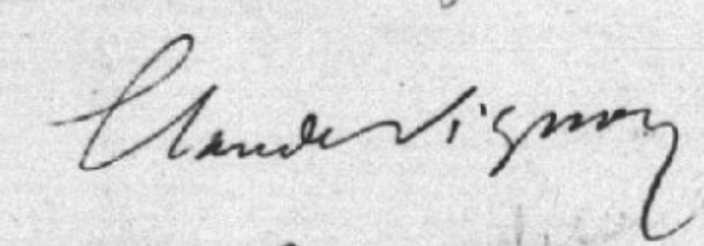 Claude VIGNON signature