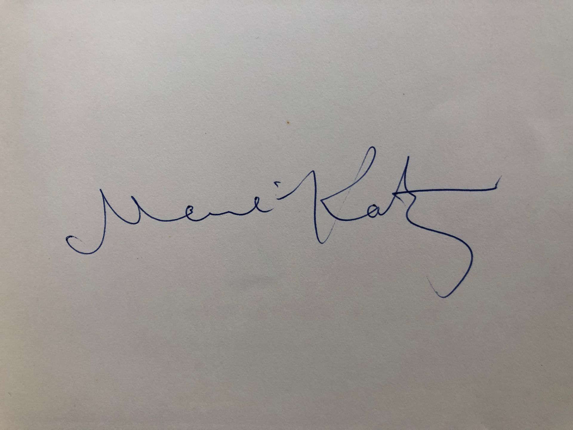 Emmanuel MANÉ-KATZ signature