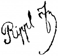 József RIPPL-RÓNAIsignature