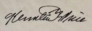 Ken PRICE signature