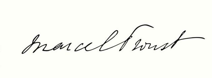 Marcel Proust signature