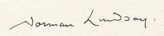 signature Norman LINDSAY