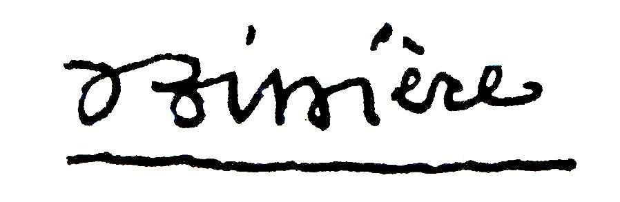Roger BISSIÈRE signature