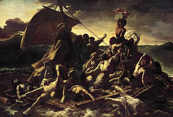"""""""Le radeau de la méduse"""",  Théodore Géricault"""