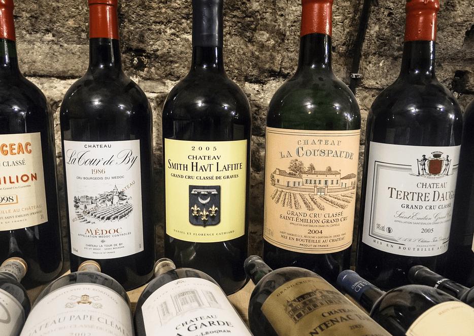 bouteilles de vin enchères
