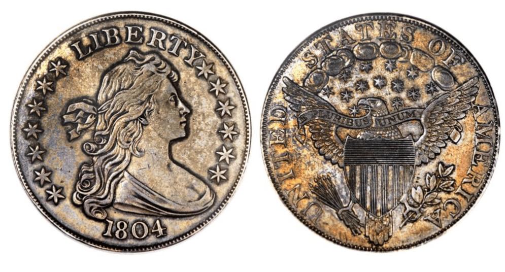 Dollar buste 1804 Classe I, d'une valeur de 2 795 000 €