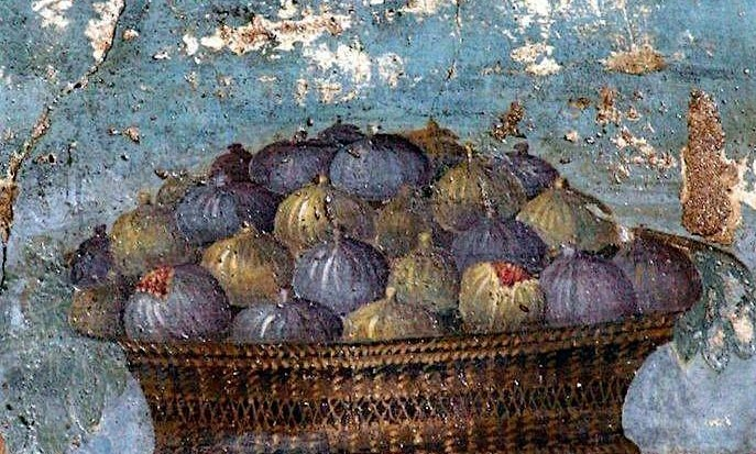 Pompei, Panier de figues, 79 av J-C