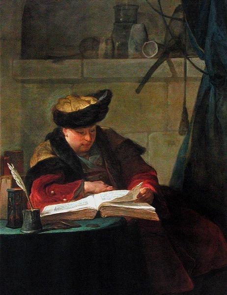 Un Chimiste dans son laboratoire de Joseph Avade, célèbre peintre du 18ème