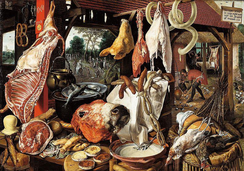 L'étal du boucher,  Pieter Aertsen