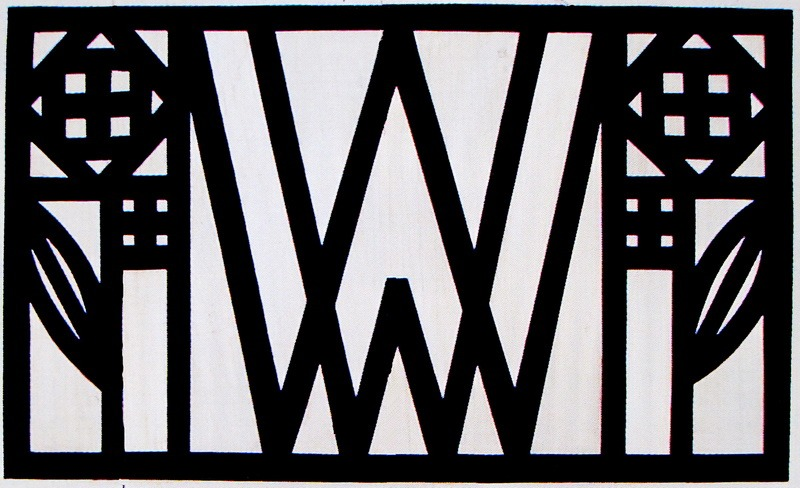 Logo Wiener Werkstätte accompagné d'une rose