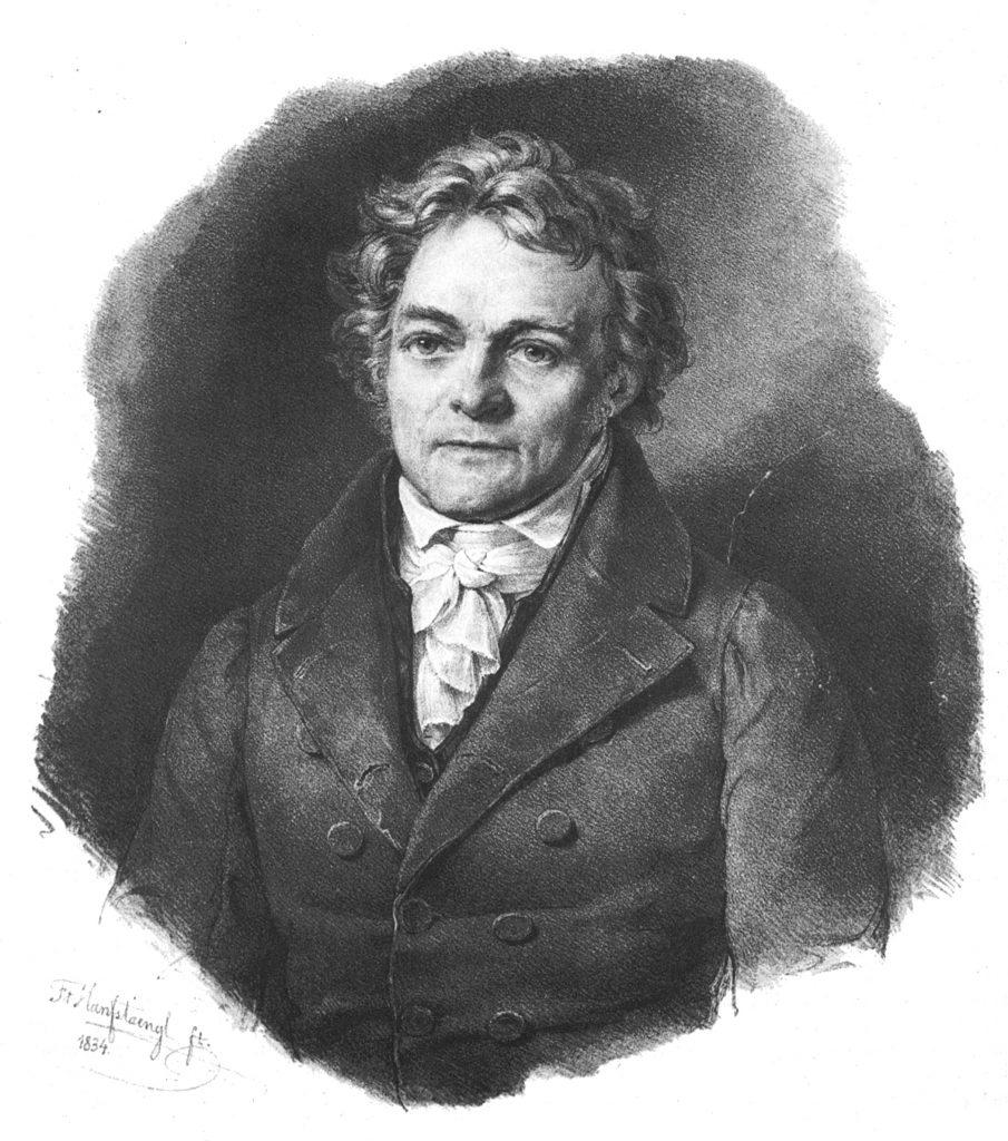 Portrait d'Alois Senefelder, Lithographie