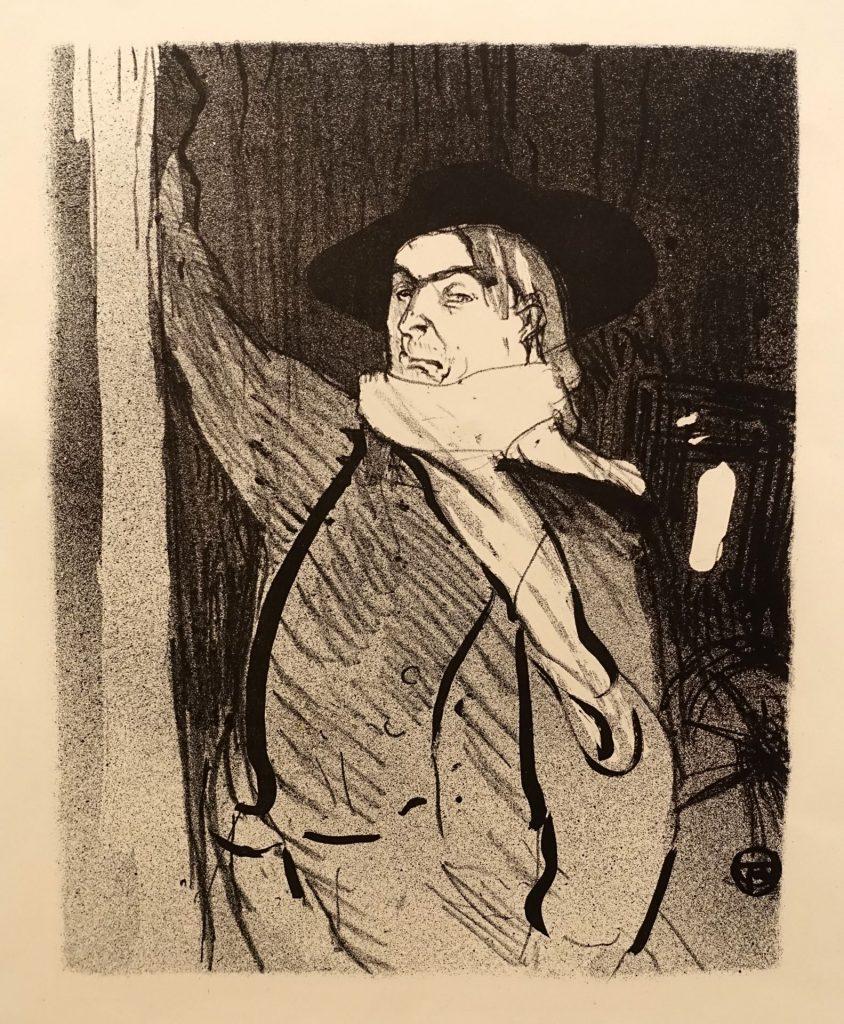 Aristide Bruant par Toulouse-Lautrec, lithographie