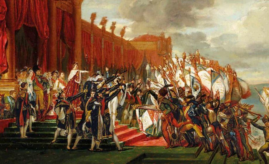"""""""La Distribution des Aigles"""", Jacques-Louis David"""
